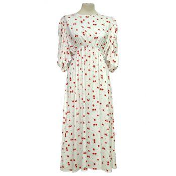 Bijela haljina s višnjama